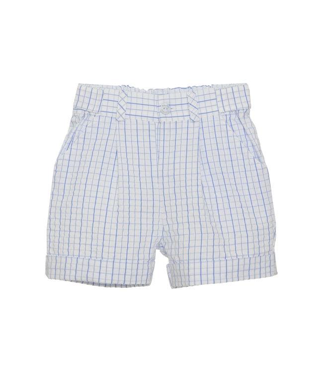 PATACHOU PATACHOU | Sky Blue checkered shorts