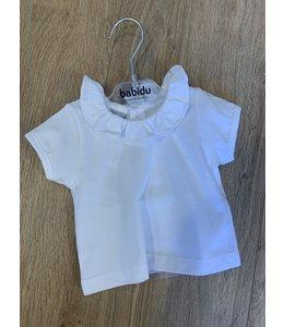 BABIDU Witte t-shirt met kraag