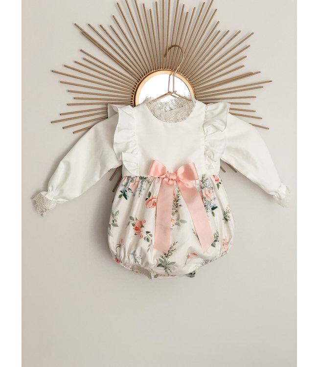 BE CHIC   Bodysuit met roze strik en bloemenprint