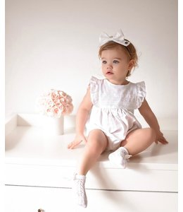 BABIDU White romper finished with beautiful lace