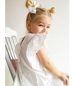 BABIDU White dress with ruffle