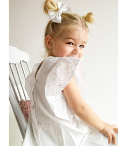 BABIDU Witte jurk met ruffle