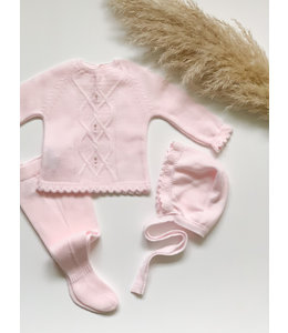 MAC ILUSION Newborn set with cable Detail Pink