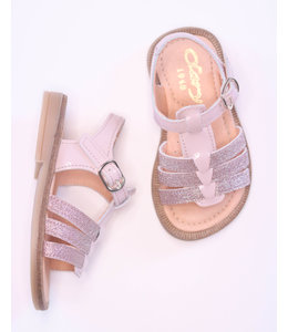 Beautiful pink sandal with glitter detail