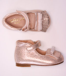 Nice glitter shoe in dusty pink with nude bow
