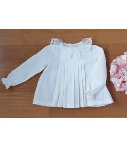Beautifull blouse with lace collar IVORY