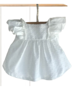 Beautiful WHITE plumeti blouse