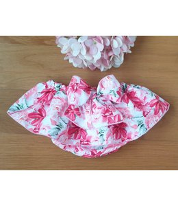 Swim flower floral print with bow at the back