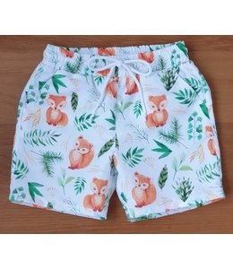 Swim shorts with foxes