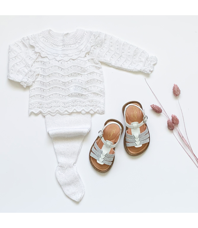 MAC ILUSION MAC ILUSION | 2-piece knitted blis set White
