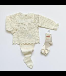 MAC ILUSION 2-piece knitted blis set Ecru