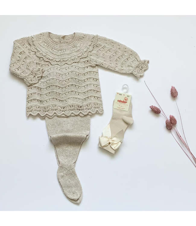 MAC ILUSION MAC ILUSION | 2-piece knitted blis set sand