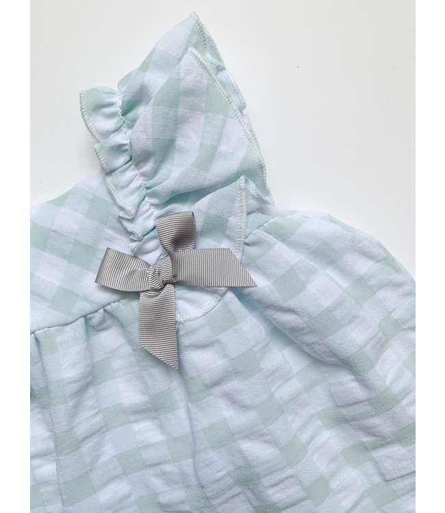 MAC ILUSION MAC ILUSION  | Checkered dress with bow Mint
