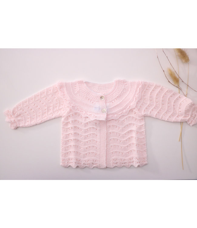 MAC ILUSION MAC ILUSION | Open weave blis cardigan Pink Light