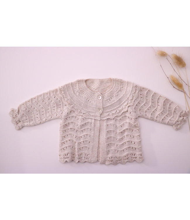 MAC ILUSION MAC ILUSION | Open weave blis cardigan sand