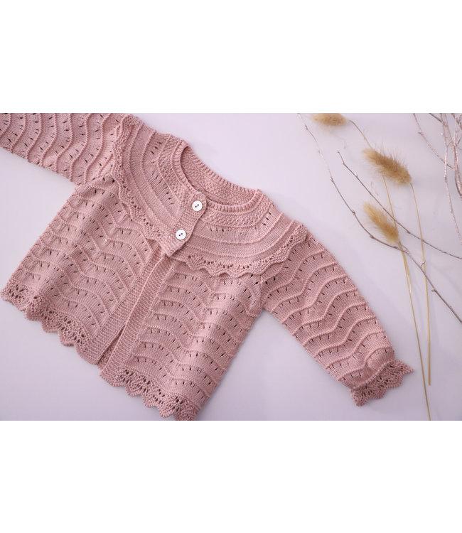 MAC ILUSION MAC ILUSION | Open weave blis cardigan Dusty pink