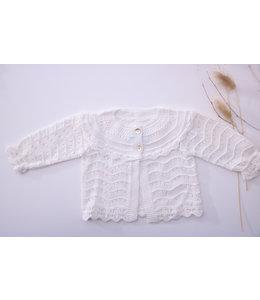 MAC ILUSION Open weave blis cardigan White