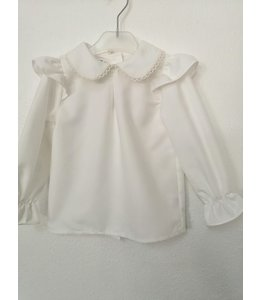 Ivory Blouse with chiffon sleeves