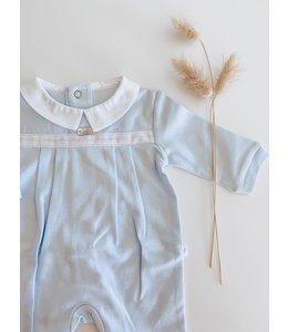 PURETE DU BEBE Light blue pajamas with white collar