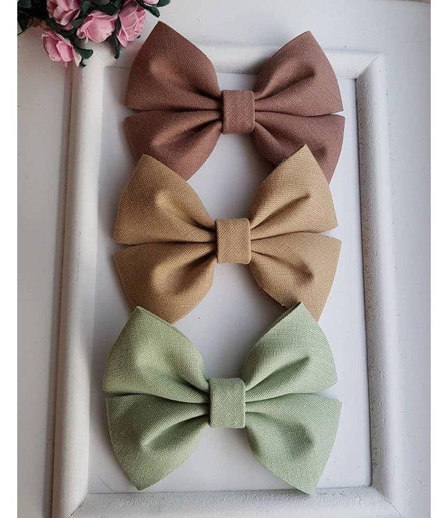 HELENA'S BOWTIQUE Cotton bow SAND