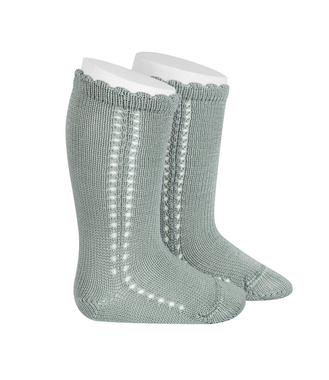 CONDOR  CONDOR   Side Openwork Knee socks Dry Green