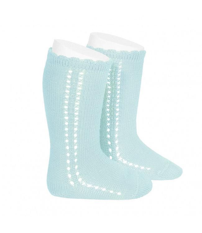 CONDOR  CONDOR | Side Openwork Knee socks Mint