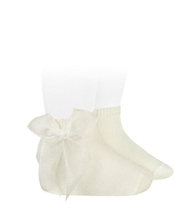 CONDOR  CONDOR | Ankle socks with organza bow CAVA