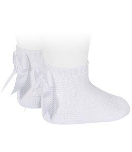 CONDOR  Enkelkousjes in ribbelsteek Wit