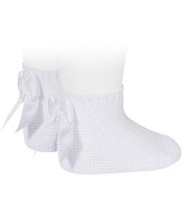 CONDOR  Garter stitch socks White
