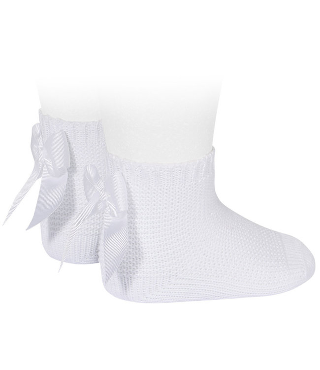 CONDOR  CONDOR | Garter stitch socks White