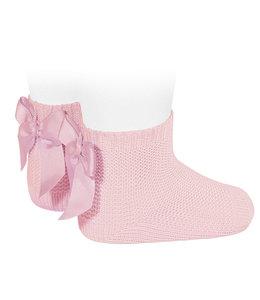 CONDOR  Enkelkousjes in ribbelsteek Roze