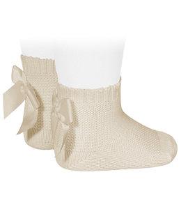 CONDOR  Garter stitch socks Linen