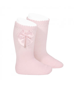 CONDOR  Knee-high with satin bow PINK
