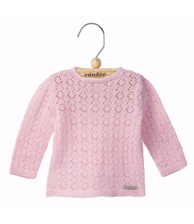CONDOR  Openwork cardigan with buttons at the back Pink