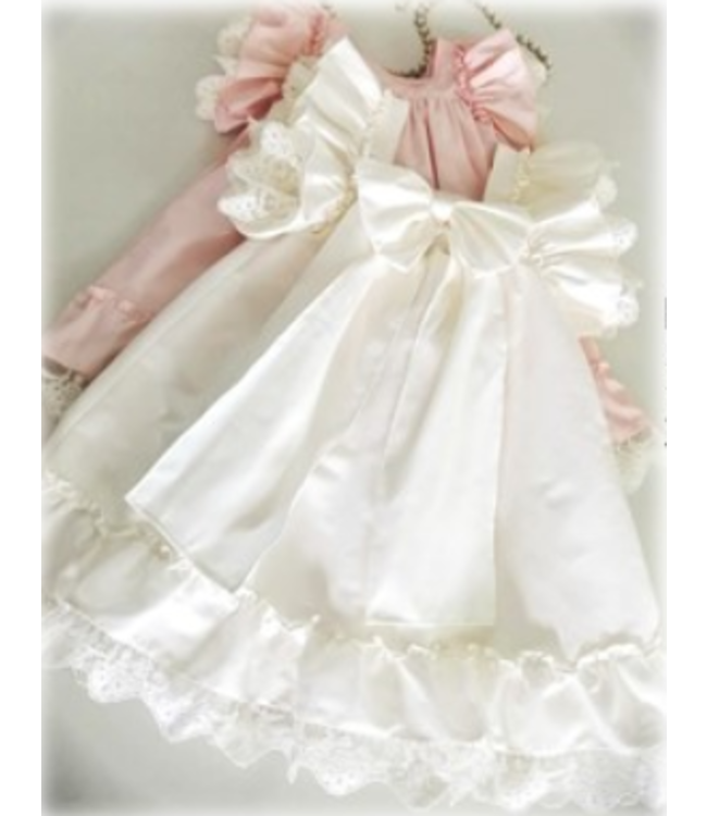BE CHIC   Beautiful dress with lace finish pink