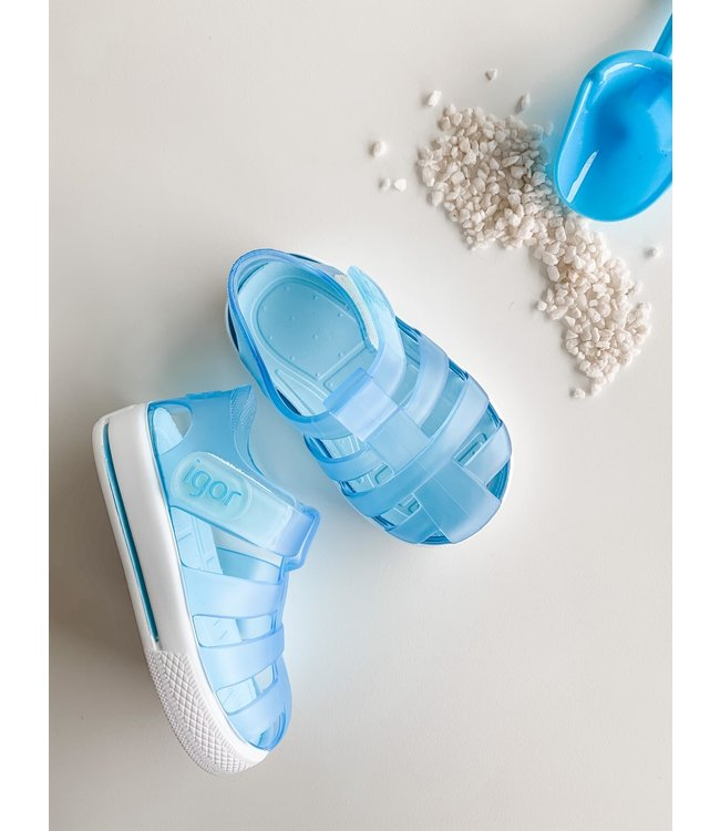 IGOR   Water sandal in matte Sky blue with white sole