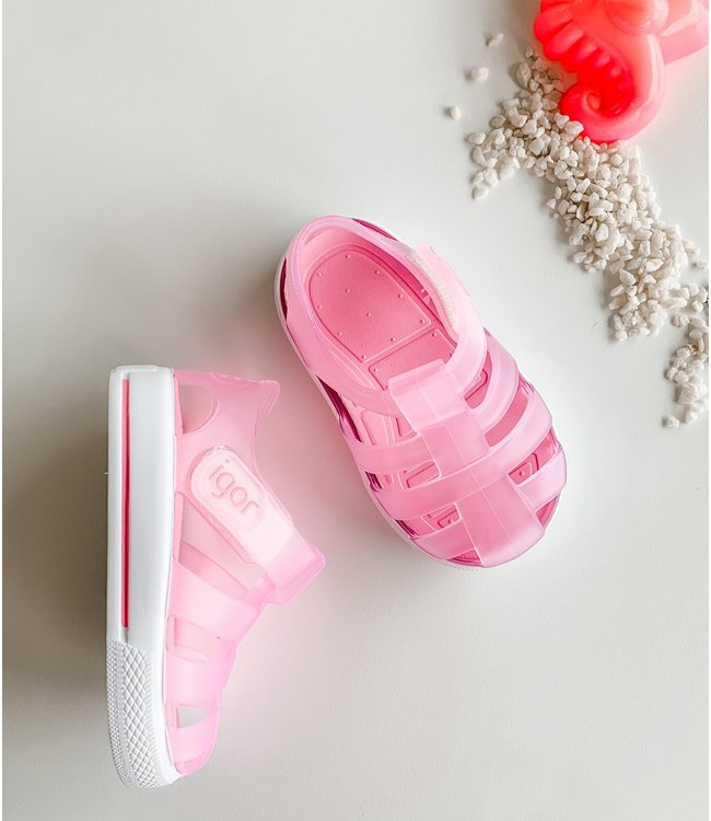 IGOR | Water sandal in matte pink with white sole