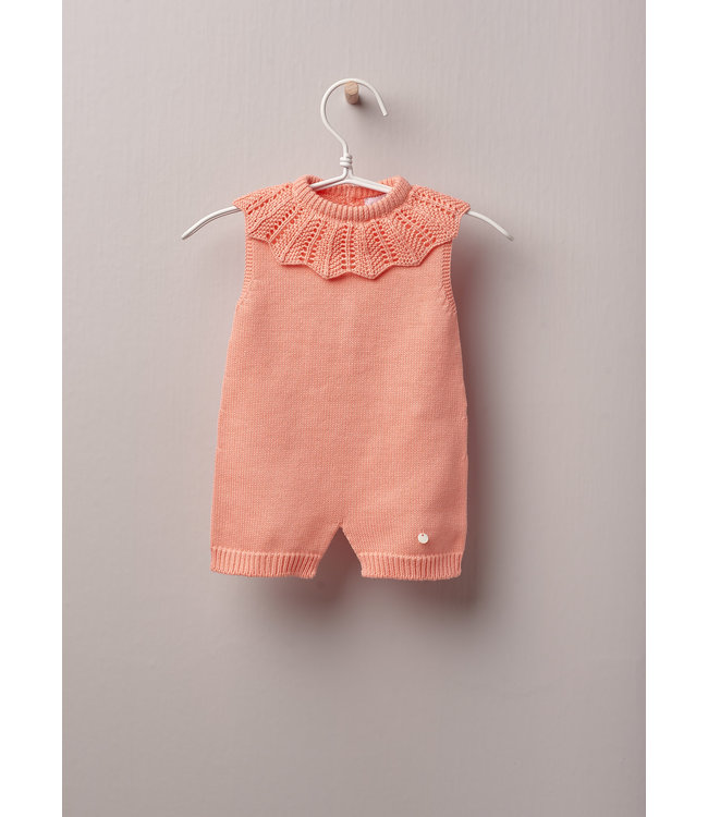 Jumpsuit Peach with nice collar and no sleeves