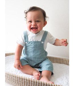 Mintblauw bodyhemdje