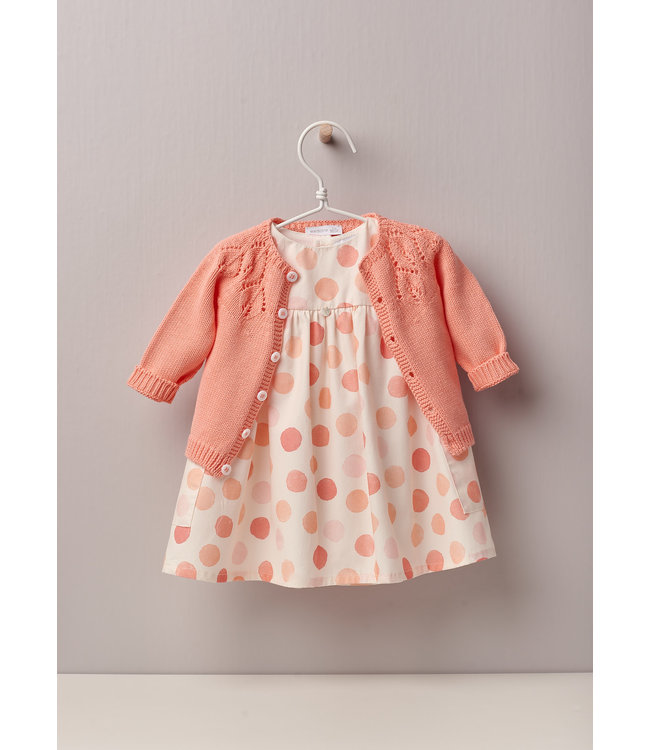 Speels jurkje in Peach tinten