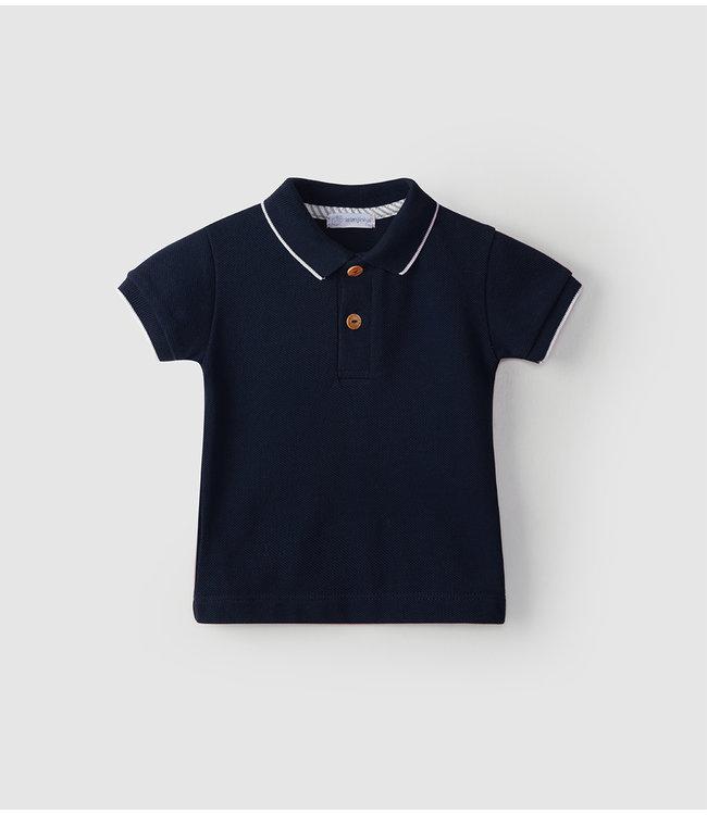 LARANJINHA LARANJINHA | Polo navy blue with white trims