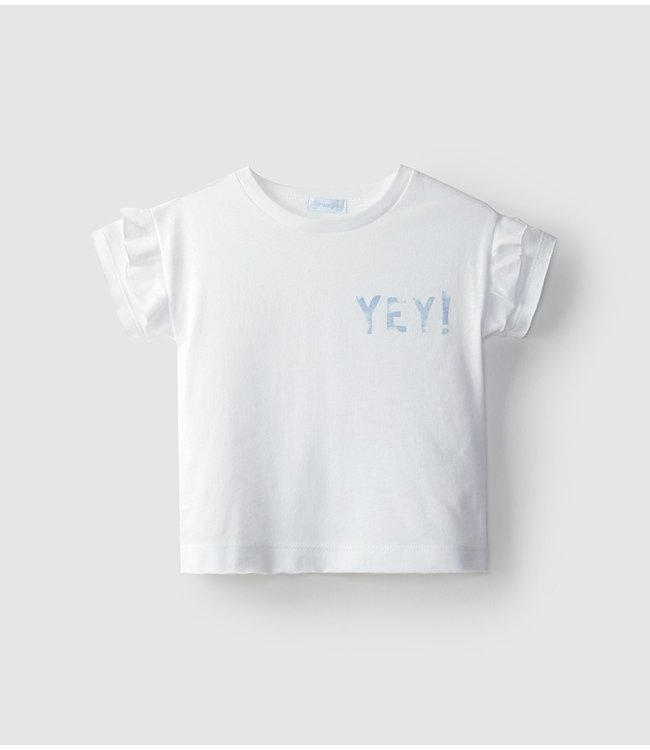 LARANJINHA LARANJINHA | Witte t-shirt met korte mouwen YEY!