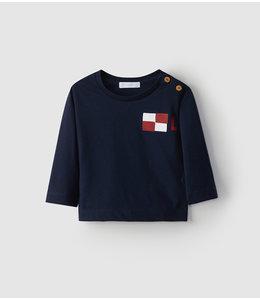 LARANJINHA T-shirt Navy blue with long sleeves