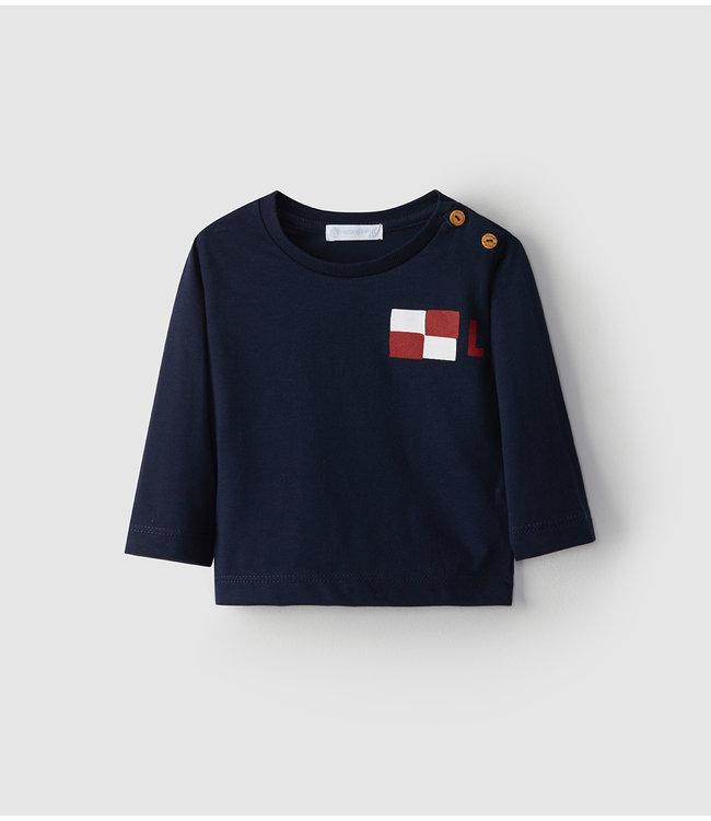 LARANJINHA LARANJINHA | T-shirt Marineblauw met lange mouwen