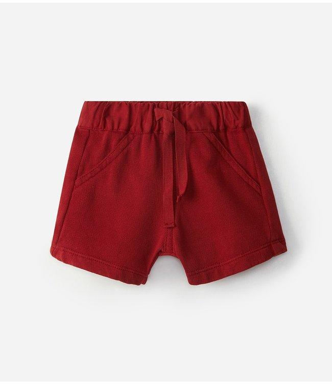 LARANJINHA LARANJINHA | Red shorts with drawstring