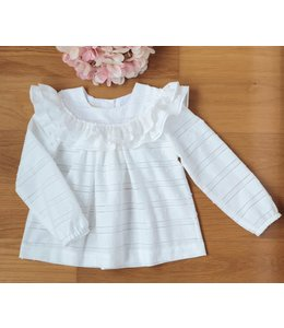 Beautiful white bordery blouse with long sleeves