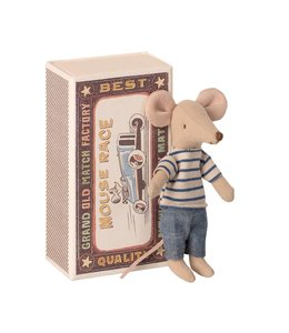 MAILEG Big brother mouse in box striped shirt