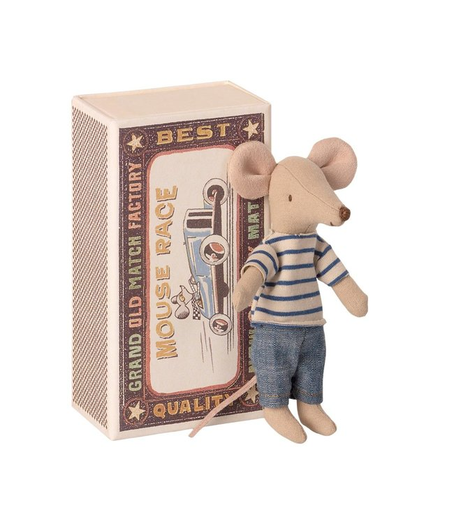 MAILEG MAILEG |  Big brother mouse in box striped shirt