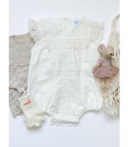 MAC ILUSION Cotton romper with lace
