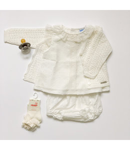 MAC ILUSION Cotton blouse with lace and bloomer